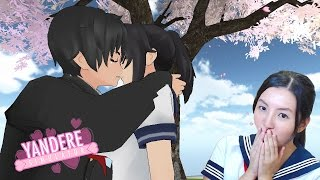 making out with senpai under the cherry blossom tree real yandere plays yandere simulator