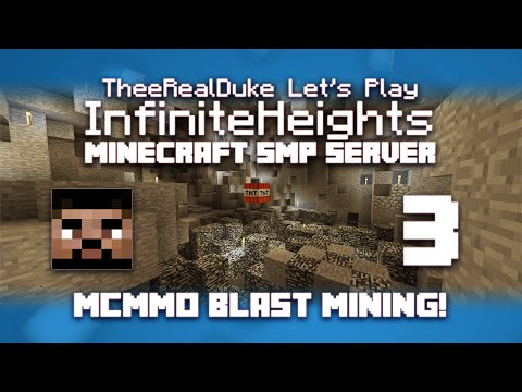 Minecraft SMP Let's Play Episode 3: MCMMO Blast Mining! - Th