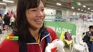 Ánh Viên rạng rỡ khi biết mình lọt vào tốp 5 VĐV thu hoạch nhiều huy chương vàng nhất SEA Games