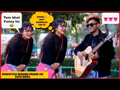 Impressing Cute Girls By Freestyle Singing || Picking Up Cute Girls No || Prank Gone Right ||