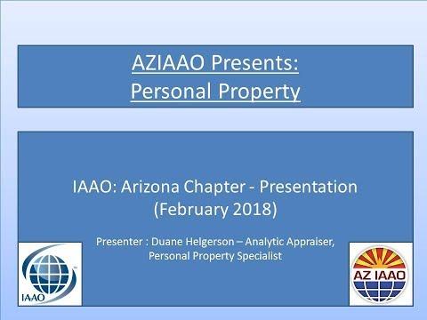 AZIAAO Duane Helgerson Presentation on Personal Property