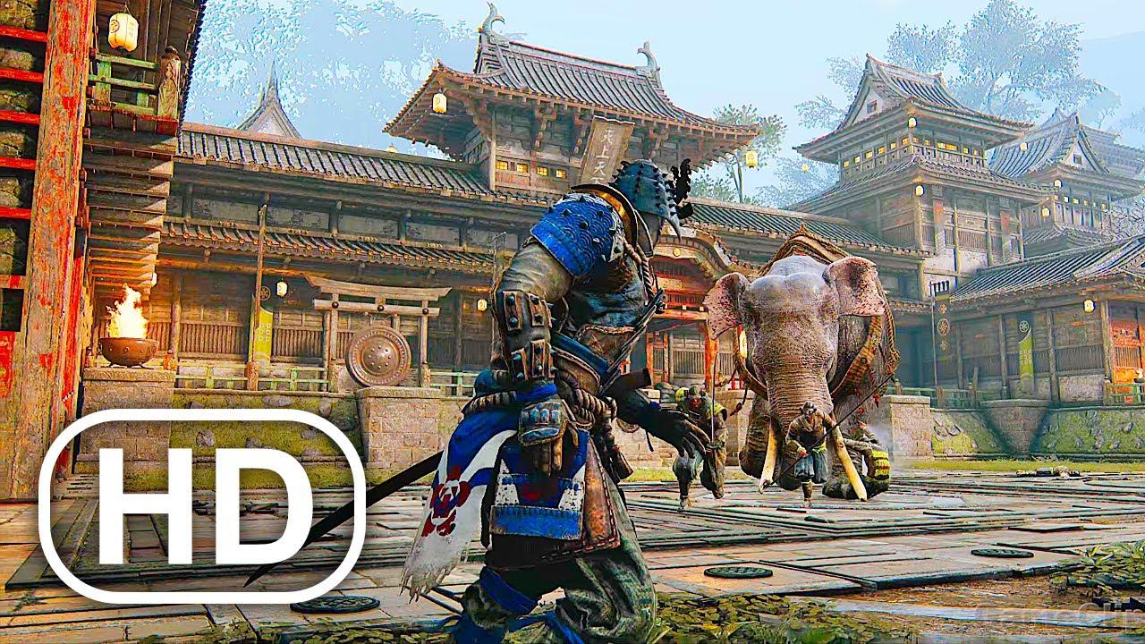 SAMURAI Vs GIANT ELEPHANT Fight Scene 4K ULTRA HD (2021) For Honor Cinematic