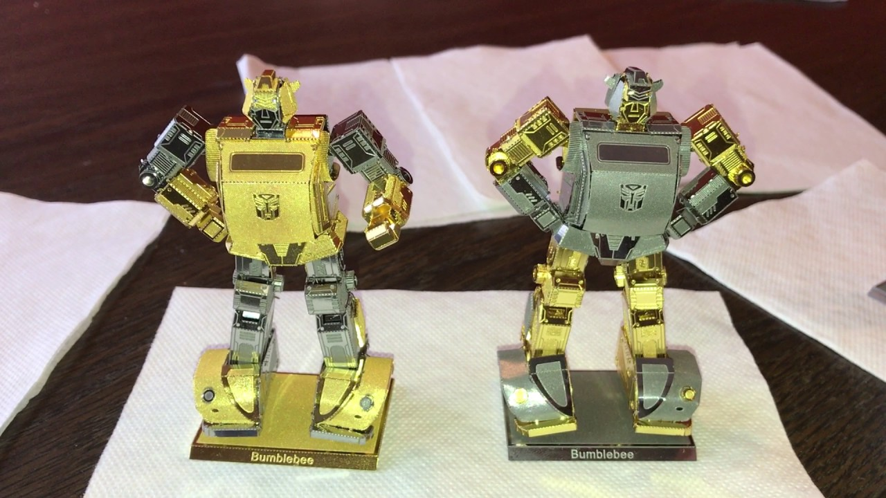 Metal Earth Transformers Bumblebee gold
