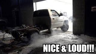 cummins-straight-pipe-first-fire-parking-lot-donuts