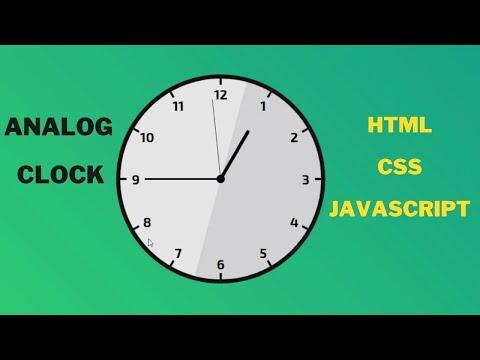 Analog Clock Using Html & CSS & JavaScript