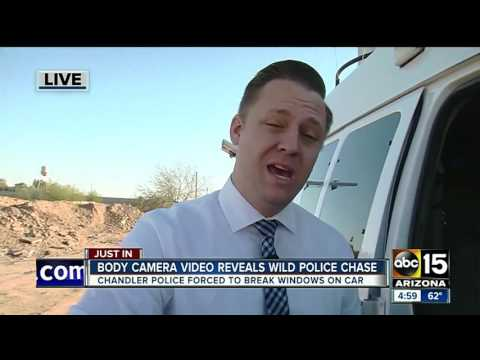 Body camera reveals wild police chase in Chandler