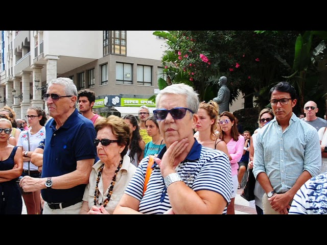 CEUTA GUARDA CINCO MINUTOS DE SILENCIO EN REPULSA POR EL ATENTADO DE BARCELONA