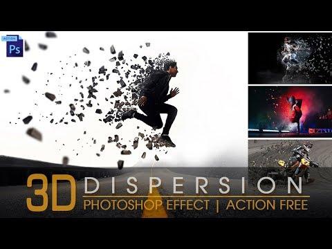 Photoshop Tutorial | 3D Dispersion Effect | Photoshop Action Free | 3D Effect