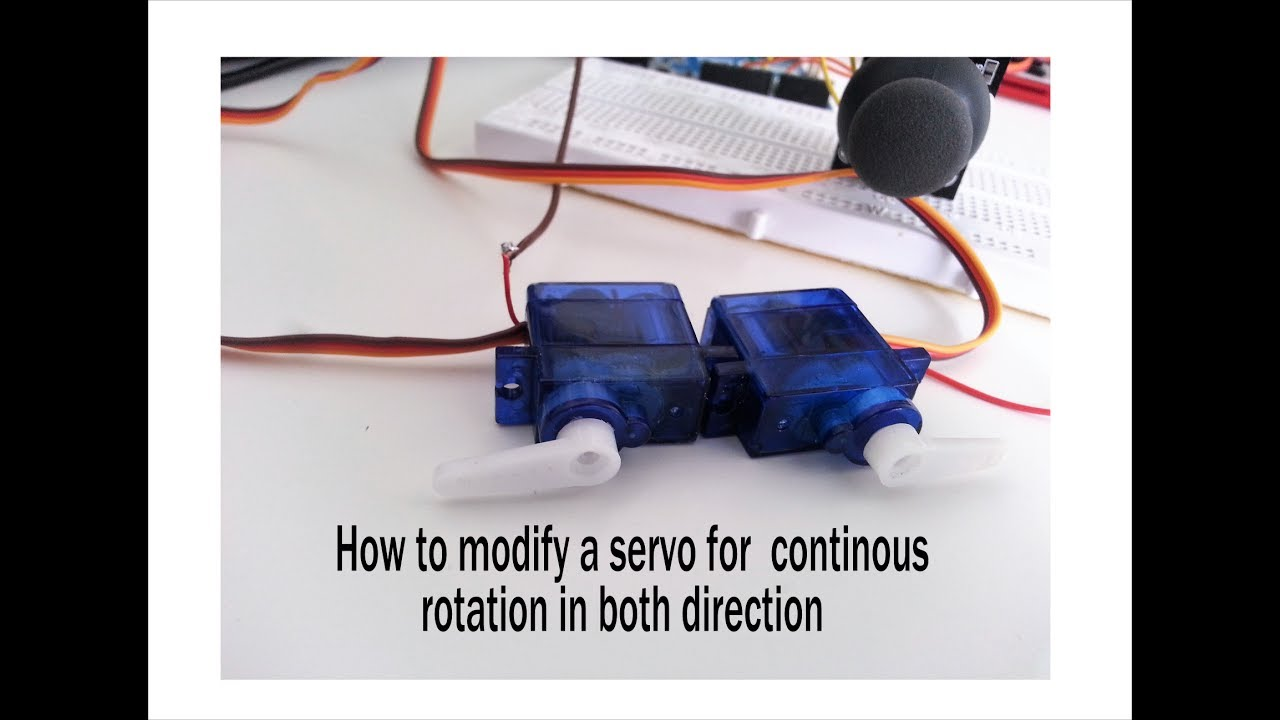 How To Convert Modify A Servo Motor For Continuous Rotation In Both Pulser Tester Testing Servos Pwm Direction Using Arduino