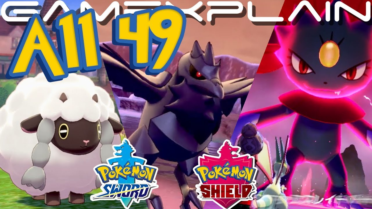 Pokemon Sword Shield All 49 Pokemon In The Direct Identified