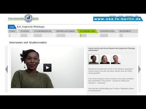 B.A. Englische Philologie Studieren An Der Freien Universität Berlin