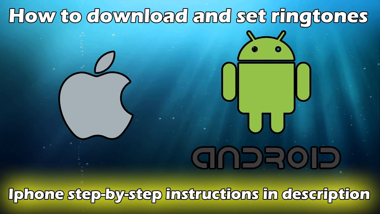 how to download and setinstall ringtones off of zedge android apple youtube