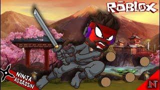 ROBLOX Indonesia #14 Ninja Assassin   Ninja Round tofu Throwing 😂😱😁😆🙀