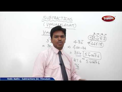 Subtraction in vedic maths | Vinculum | Speed Maths | Vedic Mathematics