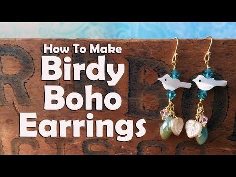 How To Make Birdy Boho Earrings: Jewelry Making Tutoria