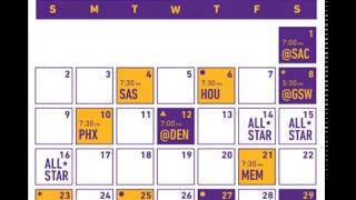 Los Angeles Lakers 2019-2020 Schedule (NBA)
