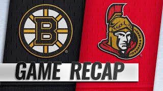 Pastrnak, Rask help Bruins top Senators, 4-1