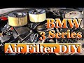 How to replace air filter on BMW 318i 320i E46 (easy)