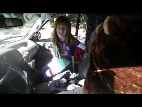 Dad embarrasses daughter at school with beaver hat