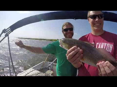 Hottt Red Drum Fishing Corolla's Currituck Sound Pontoon Charter Fishing