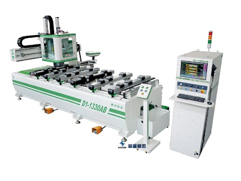 CNC Router D1-1330AB Panel Furniture Line Solution PTP with drilling units