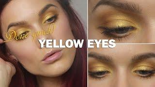 Done Quick - Yellow Eyes - Linda Hallberg makeup tutorials Thumbnail