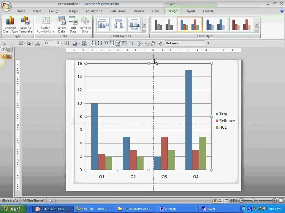 Simple column charts in powerpoint 2007 kamal ghanghas youtube simple column charts in powerpoint 2007 kamal ghanghas ccuart Gallery
