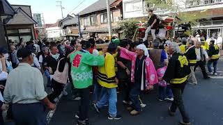2018 京丹後市間人 秋祭り 喧嘩屋台 向地 vs 岡成