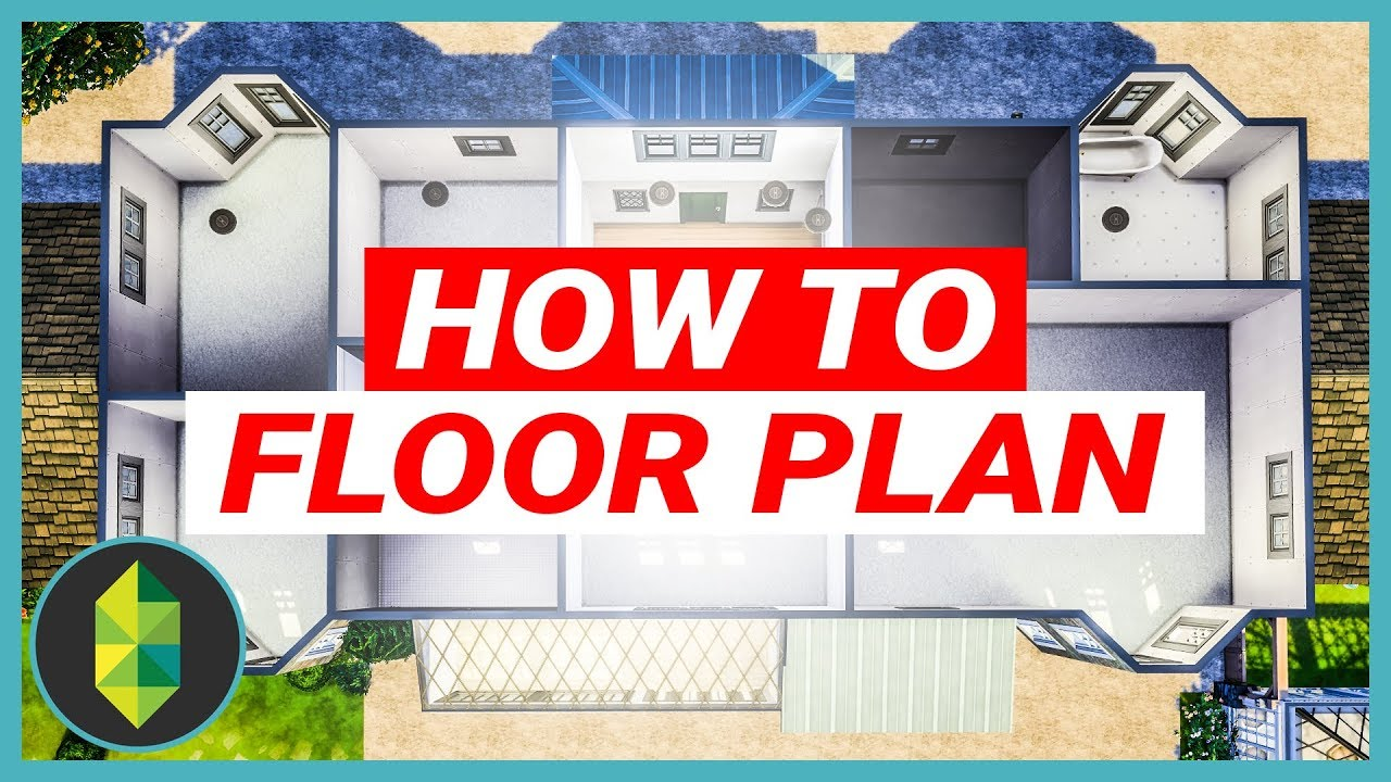 How To Design the PERFECT Floor Plan - 64x64 MANSION (Sims ...