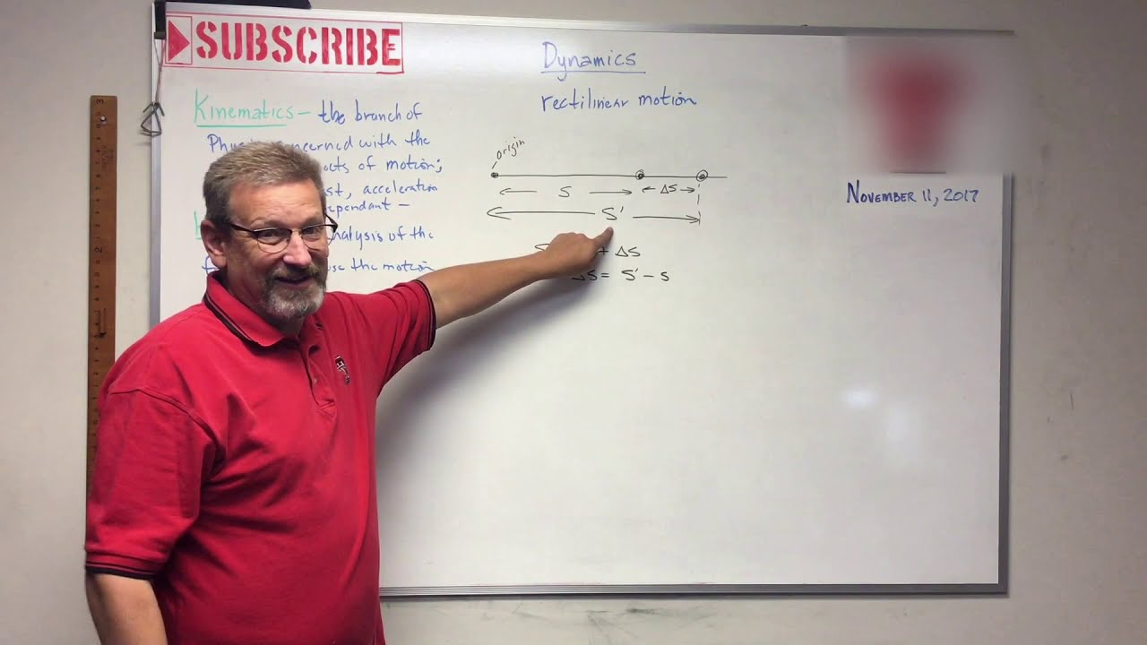 Dynamics - Lesson 1: Introduction and Constant Acceleration Equations