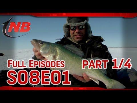 (Part 1/4) Hog Callin- Ice Fishing Lake Winnipeg Walleyes