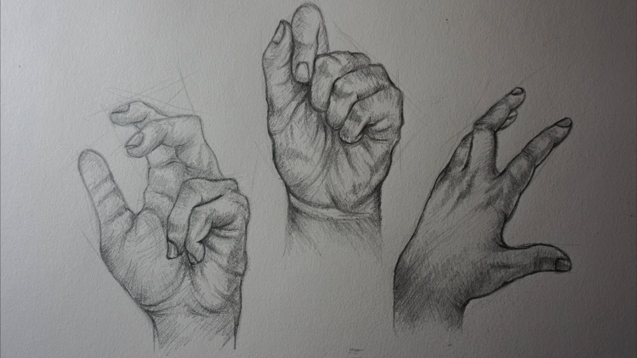 How to draw hands with pencil step by step realistic hands