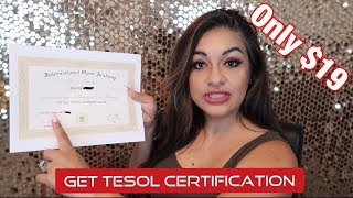 $19 Tesol Certification | Online Teaching Jobs