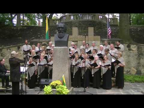 Lithuanian song by Choir in Cleveland Cultural Garden