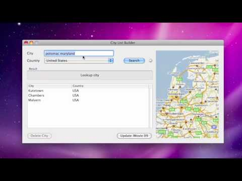 How To Add New Cities To iMovie 09's Travel Maps