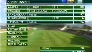 Kumar Sangakkara 192 vs Australia 2nd test 2007 Hobart