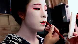 """半玉(舞妓)さんの白塗りメイク最初から最後まで how to """"Maiko(Geisha)"""" make-up"""