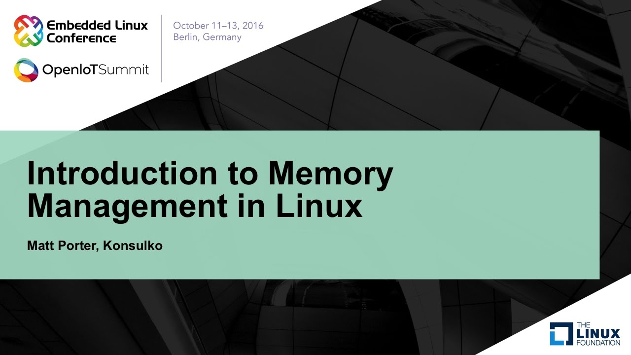 Introduction To Memory Management In Linux Youtube