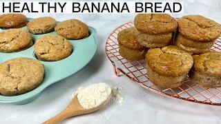 BANANA BREAD MUFFINS HEALTHY NO SUGAR