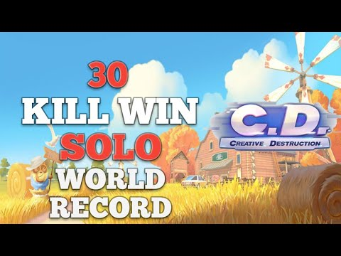 30 Kill Solo World Record (Creative Destruction)