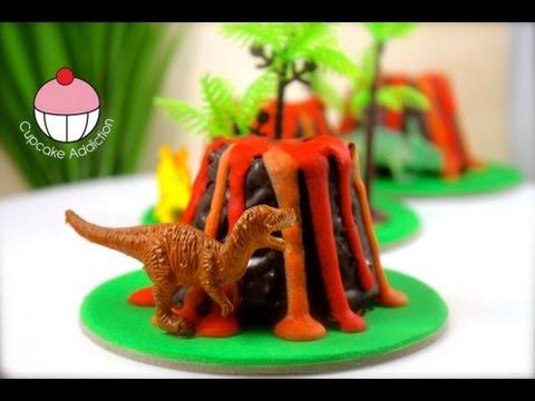 Make Mini Dinosaur Volcano Cup Cakes A Cupcake Addiction