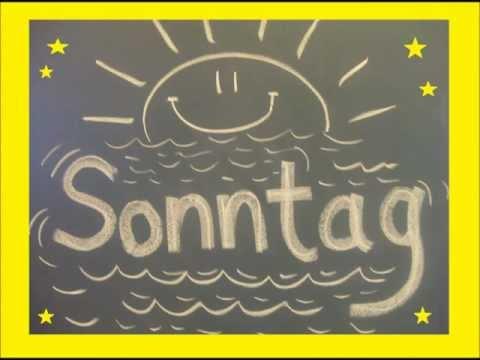 Die Wochentage als Lied - German: days of the week - Allemand: les jours de la semaine