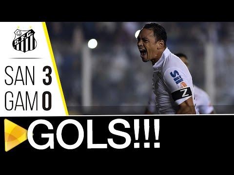 Santos 3 x 0 Gama | GOLS | Copa do Brasil (27/07/16)