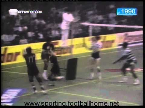 Voleibol :: Sporting - 1 x AC Espinho - 3 de 1989/1990 - 2Fase