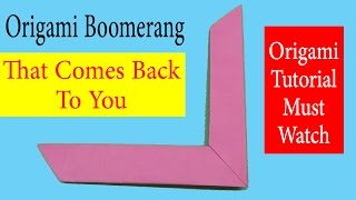 How To Make An Origami  Boomerang Step By Step Instructions