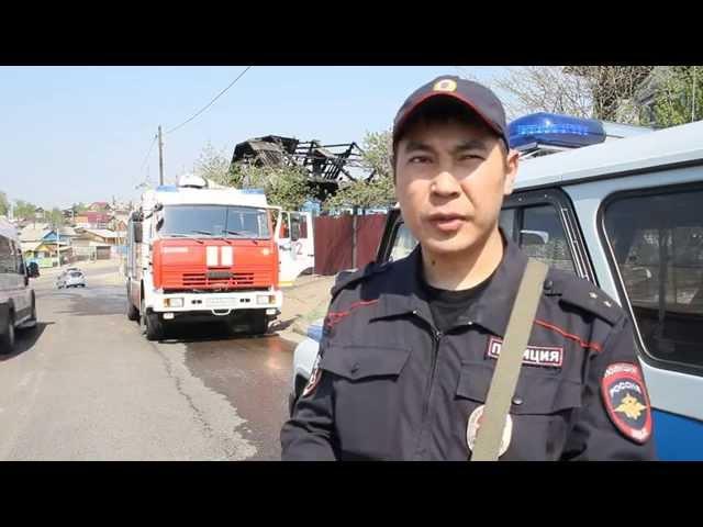 В Улан-Удэ полицейские спасли пожилую женщину из горящего дома