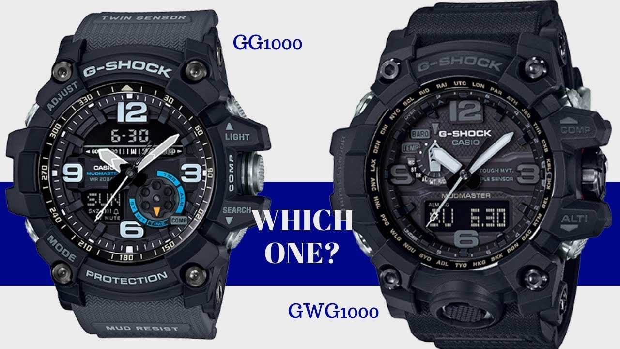 Which One Is Better? GG 1000 MUDMASTER vs GWG 1000 MUDMASTER G Shock Watch Comparison
