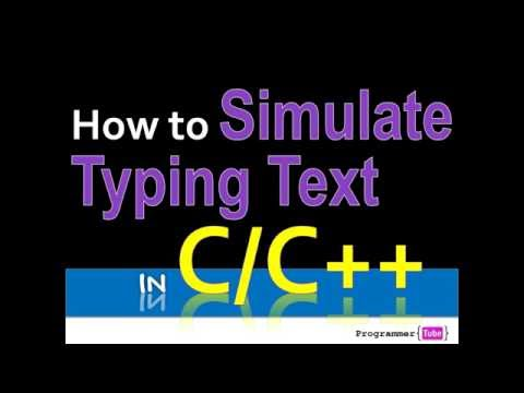 How to Simulate Typing in C/C++
