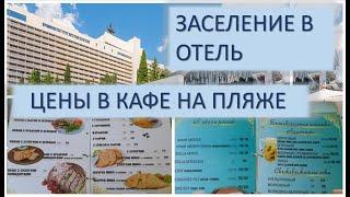 Измеряют температуру, цены в кафе Ялты 2020, Массандровский парк.