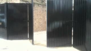 Bi Folding Electric Gate From Outside